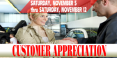 Brake Service Customer Appreciation