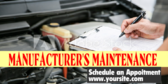 Manufacturer's Maintenance Schedule