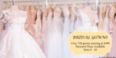 Wedding Gowns Starting at Price