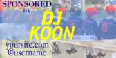 DJ Advertising Sponsorship