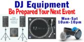 Disc Jockey Equipment Available