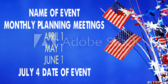 Event Planning Services Monthly Preparation Meetings