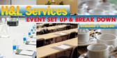 Event Planning Service Setup & Breakdown