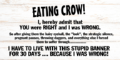 Eating Crow Sign