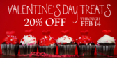 Valentine banner bakery