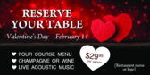 reserve your table