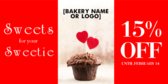 Valentine Cupcake Banner Stand Bakery