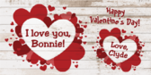 Personalized I Love You Valentine Stand