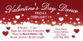 Valentine's Day Dance Banner Stand