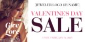 Valentine's Day Jeweler Banner Stand