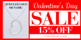 Valentine's Day Necklace Banner Stand