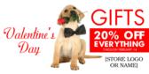 Valentine's Day 20% Off Sale Banner Stand
