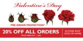 Valentine's Day Flower Shop Banner Stand