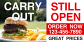 Carry Out Open Hamburgers