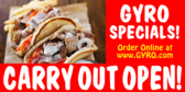 Greek Gyro Carry Out Open