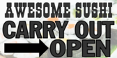 Sushi Carry Out Open