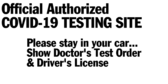 Authorized Covid-19 Testing Site