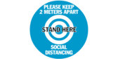 Stand Here 2 Meters Social Distance Floor Graphic