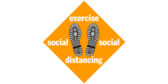 Exercise Social Distance Stand Here Floor Graphic