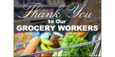 Thank You Grocery Workers Grocery Cart Sign