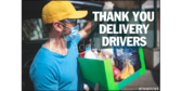 Thank You Delivery Drivers Sign