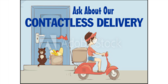 Ask About Our Contactless Food Delivery Sign