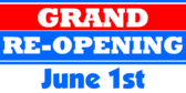 Grand ReOpening Banner With Date Opening