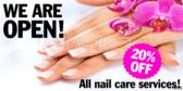 Opening Again Nail Salon Banner