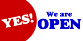 Yes We Are Open Again Banner