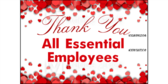 Thank You All Essential Employees Sign-dupl