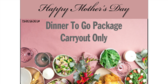 Mothers Day Dinner Package Carryout Yard Sign