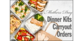 Mothers Day Dinner Carry Out Kits Yard Sign