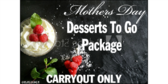 Mothers Day Desserts Package To Go Yard Sign