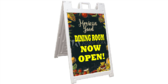 Mexican Food Dining Now Open Sidewalk Sign