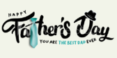 Happy Father's Day Tie and Hat Designed Banner