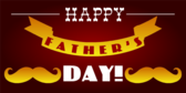 Happy Father's Day Mustache Designed Banner