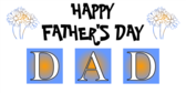 Happy Father's Day Dad Blocks Banner