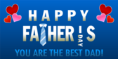 Happy Father's Day Best Dad Banner