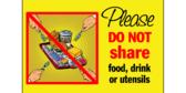 18x24 Do Not Share Food & Utensils