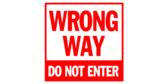 Wrong Way Aisle Directional