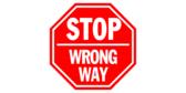 Wrong Way Stop Sign Floor Graphics