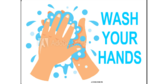 Kindergarten Wash Your Hands 2x3 Vinyl Banner