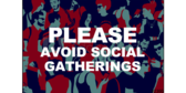 Avoid Social Gathering With Students Sign