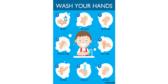 Elementary School Hand Washing Steps Restroom Banner