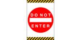 Do Not Enter Door Banner