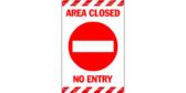Area Closed Door Banner