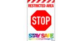 Restricted Area Door Banner