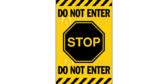 Stop Do Not Enter Door Banner