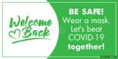 Let's Be Safe & Beat Covid-19 Together Banner
