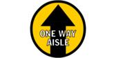 One Way Aisle Walking-Aisle Directional Floor Graphics